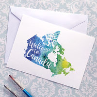 Giclee Canada Map Watercolour Print: Art by Andrea Hill