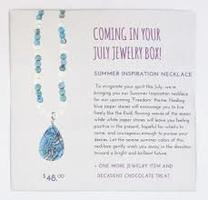 Summer Inspiration Blue & White Agate Necklace