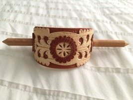 Carved Birch wood Hairpin by Masterpeace