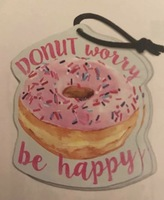 Donut Worry Be Happy Car Freshener