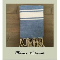 Blue fouta towel by Cotonways
