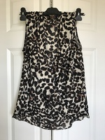 Renee C faux wrap leopard print too