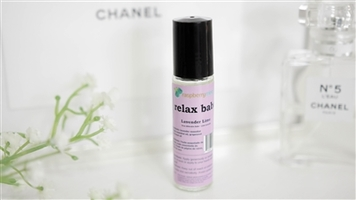 RaspberryMint Relax Babe roller in Lavender Lime scent