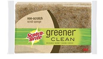 Scotch-Brite Greener Clean Natural Fiber Non-Scratch Scrub Sponge