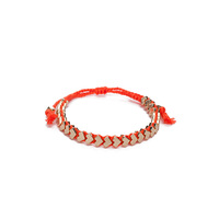 Ettika Chevron Bracelet - Orange & Gold