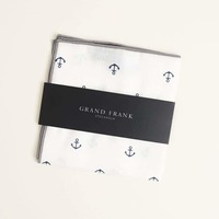 July 2017 Sprezzabox Grank Frank Pocket Square -- Gray