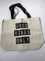 Good Vibes Only Canvas Tote Bag