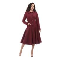 Collectif Vintage Burgandy Lillian coat