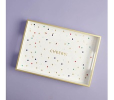 Fringe Cheers Lacquerd Tray