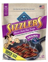 Blue Sizzlers Original Pork Bacon Treats