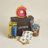 Loot pet July partial box- ninja turtles bandana & peanut butter bubbles