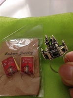Merlin castle ring and King Arthur earrings