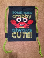 Crabby drawstring backpack