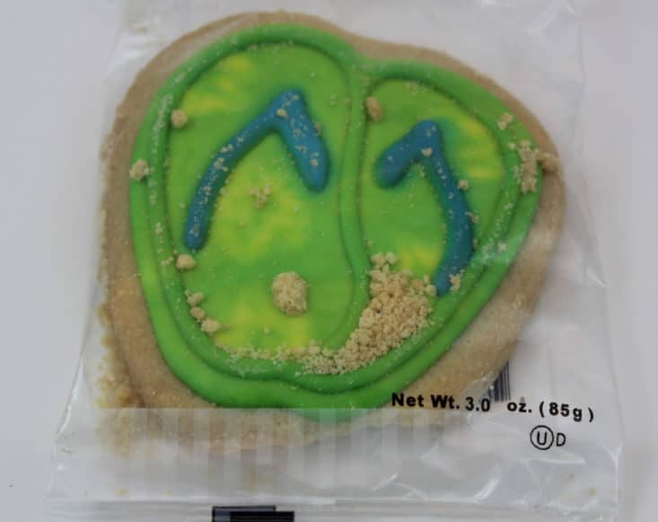 Flip Flop Shortbread Cookie from The Decorated Cookie Co.