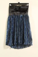 Rampage Black with Blue Strapless Dress Medium
