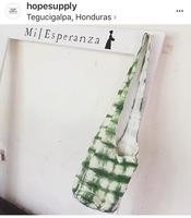 Mi Esperanza  hand-dyed linen crossbody day bag Kale