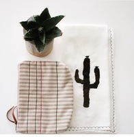 Cactus stenciled kitchen Hand towel by Shop Arrow Root