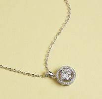 "Ariel ""Tempest"" 18k White Gold Pendant Necklace"