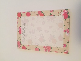 "Floral ""Notes"" Pad"