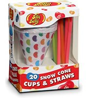 Jelly Belly Snow Cone Cups & Straws