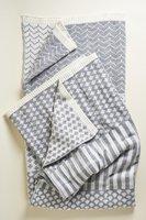 Minka Inhouse Handmade Geometric Reversible Throw Blanket (Grey)