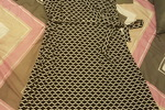 Donna Ricco Dress in Black and White Zig Zag print
