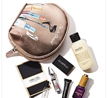 Macy's August beauty bag/ entire contents and bag