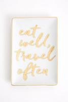 Rosanna Inc Charm School Tray Eat Well, Travel Often