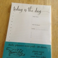 Daily planner note pad