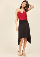 Cross-Functional Fashion Skirt in Black