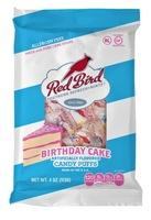 Red Bird Birthday Cake candy puffs