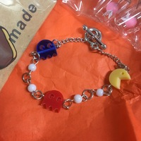 Pacman charm bracelet