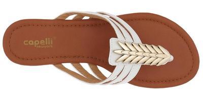 White and Gold Multi Strap Sandal