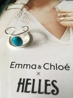 Helle Ring Silver with blue stone