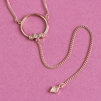 LUV AJ Full Bloom Lariat Necklace-Rose Gold