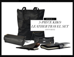 Kiko 5pc Leather Travel Set
