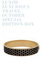 Luxor Halcyon Days Honeycomb Black & Gold Bangle