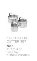 FoxRun Biscuit Cutter Set
