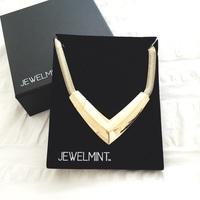 JEWELMINT gold lamé choker necklace