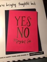 """""""Yes No Maybe So"""" card"""