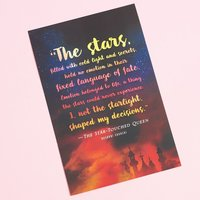 The Star-Touched Queen Quote Print
