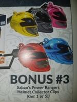Saban's Power Rangers Helmet Collector Clips