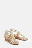 Tai Wedges, Ivory, Size 10 Wide