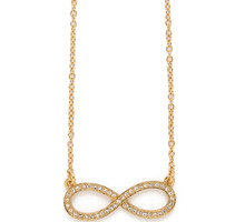 CC Skye Infinity Necklace - Gold Plated Crystal Pave