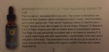 Spanish Riviera Flash Nourishing Vitamin Facial Oil