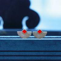 Anne Thomas Cuzco Earings Silver/Coral