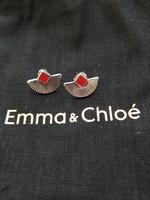 Anne Thomas Cuzco Earrings Silver/Red