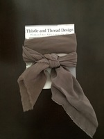Thistle and Thread hand dyed silk scarf in Brazilnut
