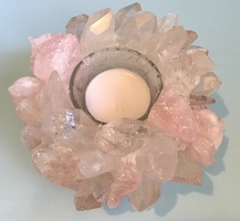 Kathryn Mccoy Rose Quartz Votive Holder