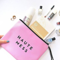 "Milly Waterproof Zip Pouch ""Haute Mess"""